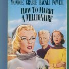 How To Marry A Millionaire Marilyn Monroe Betty Grable Lauren Bacall William Powell Comedy VHS Box1