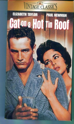 CAT ON A HOT TIN ROOF Elizabeth Taylor Paul Newman Burl Ives Family VHS Video Tape Movie 2M