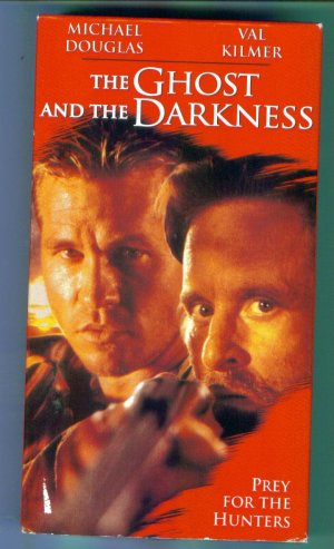 The Ghost and The Darkness Michael Douglas Val Kilmer Action Adventure VHS Location132
