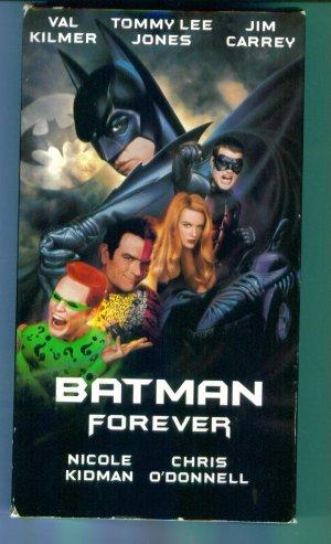 Batman Forever Val Kilmer Tommy Lee Jones Jim Carrey Nicole Kidman Chris O'Donnell VHS Location132