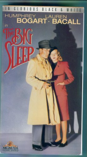 The Big Sleep Humphrey Bogart Lauren Bacall In Glorious Black & White MGM VHS Family Classic
