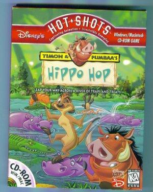 Disney's Disneys HOT SHOTS CD ROM GAME Timon & Pumbaa's Hippo Hop Windows Macintosh