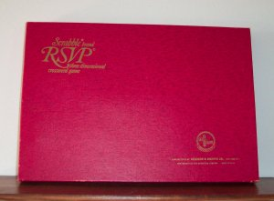 Vintage 1970 SCRABBLE Brand R S V P RSVP ~ Three Dimensional Crossword Game