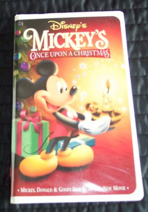 MICKEY'S ONCE UPON A CHRISTMAS Childrens Family VHS Movie 2M