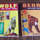 CUB Scouts Vintage Book Set WOLF & BEAR Handbooks Boy Scouts Of America 1971 Printing location96