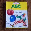 FIRST ABC Board Book Toddler Childrens Colorful Abc's