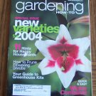 GARDENING How To January February 2004 Back Issue Magazine Happy Houseplants
