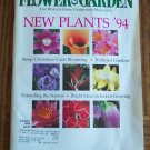 Flower & Garden January 1994 Back Issue Magazine Gardening Flowers Plants