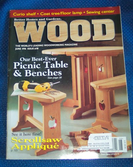 Better Homes And Gardens Wood June 1996 Issue 88 Back Issue Magazine Woodworking