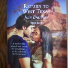 Return To West Texas Jean Brashear April 07 1413 Harlequin Superromance  Romance Novel