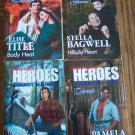 American Heroes Against All Odds 4 Book Set Harlequin  Silhouette Romance Novel