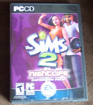 The Sims 2 Nightlife Expansion Pack With Booklet EA Games Computer Software Game Windows location143