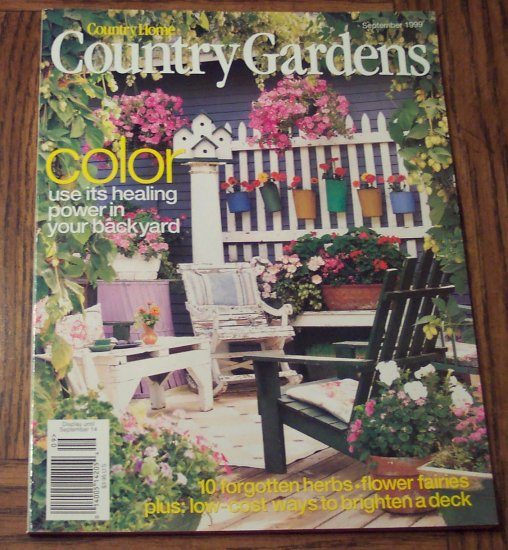 Country Homes And Gardens Magazine: Country Home COUNTRY GARDENS September 1999 Back Issue