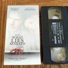 What Lies Beneath Harrison Ford Michelle Pfeiffer Thriller Mystery Suspense VHS Movie 2M
