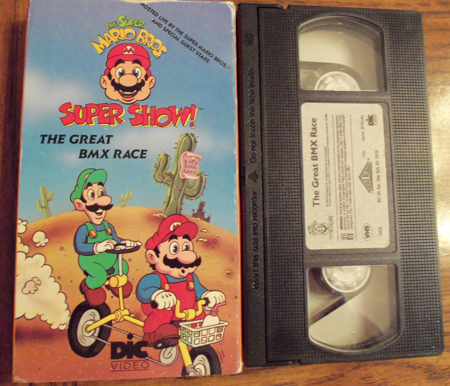 The Super Mario Bros. Super Show The Great BMX Race Vhs Tape Video 1M
