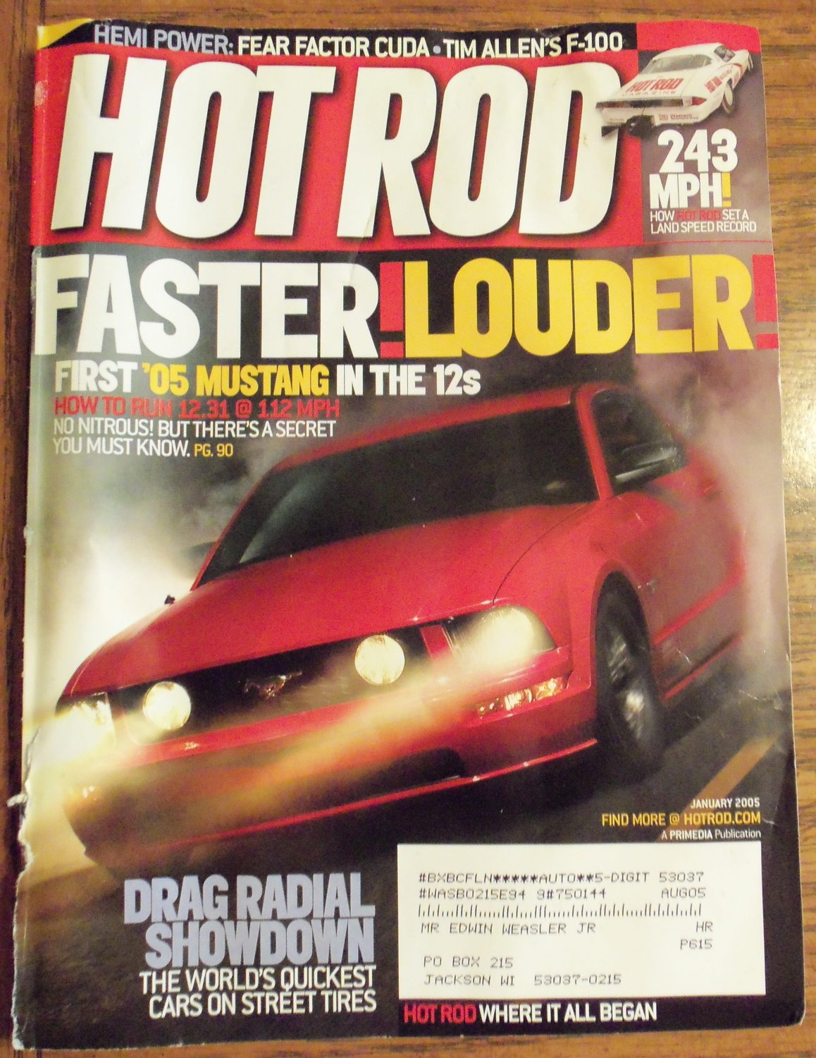 Hot Rod January 2005 Tim Allen's F-100 Back Issue Magazine 1M