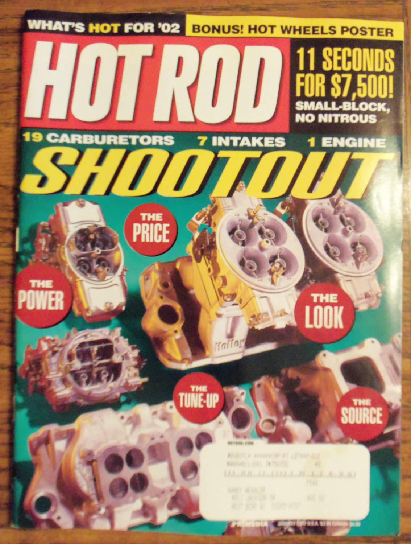 Hot Rod January 2002 Multi-Carb Shootout Back Issue Magazine 1M