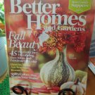 BETTER HOMES AND GARDENS October 2008 Back Issue Decorating Home Magazine location50