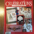 Leisure Arts Christmas 1990 Celebrations To Cross Stitch and Craft Back Issue Santas locationM10