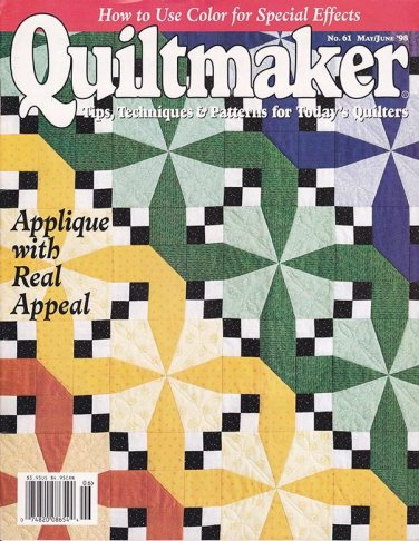 Quiltmaker Magazine May June 1998 No 61 Back Issue location32