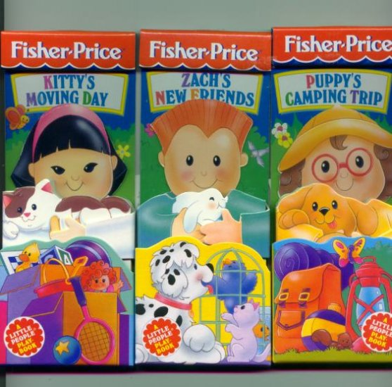 Set of 3 Fisher Price Little People board Books NEW