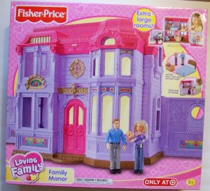 Fisher Price dollhouse FAMILY MANOR mansion loving family  NEW