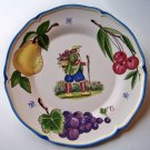 Haldon Group Provencial Fruit 1991 Salad Plate 8 1/2""