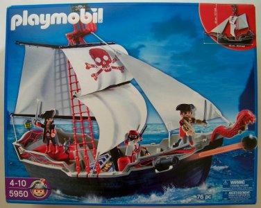 Playmobil Pirates Set 5950 Skull Bones Pirate Ship NEW boat