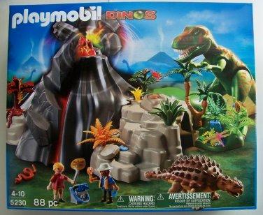 Playmobil dinosaur 5230 Volcano with Tyrannosaurus dinos NEW t rex