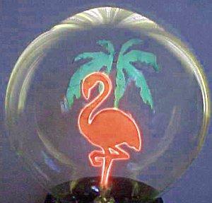 Flamingo with Palm Tree Novelty Light Bulb
