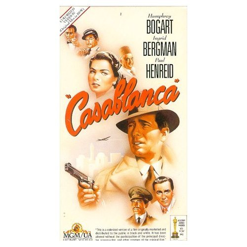 CASABLANCA vhs Color Colorized Humphrey Bogart RARE