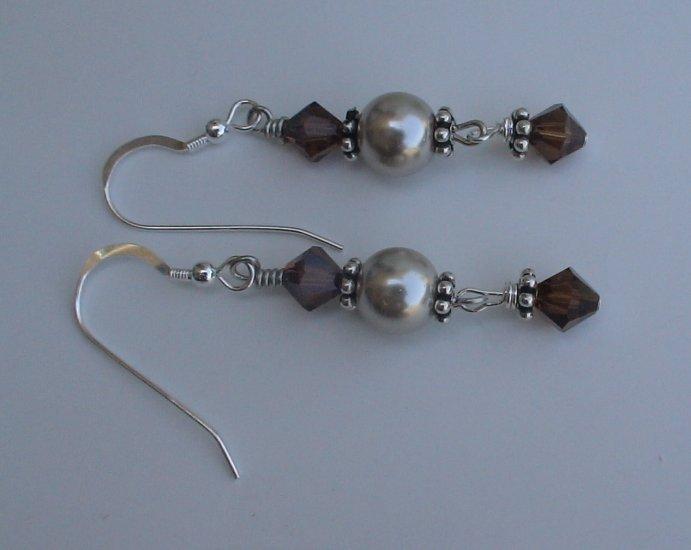 Beaded Pearl Earrings