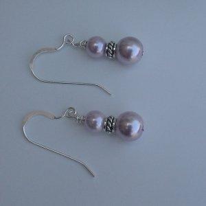 Beaded Lilac Earrings