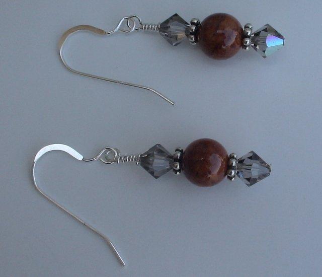 Beaded Fossil Earrings