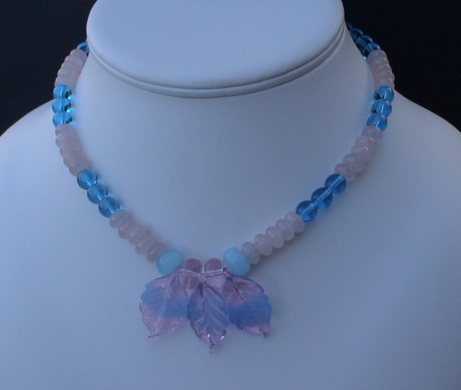 Beaded Blue Moon Necklace