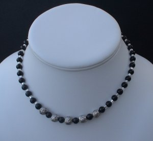 Beaded Mountain Jade Necklace