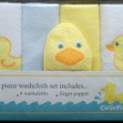 *CUTIE PIE* 5pc *DUCKIE* Washcloth Set - GREAT GIFT!! Boy/Girl