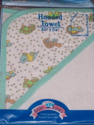 Colorful HOODED TERRY BABY BATH TOWEL - Neutral BOY/GIRL!!