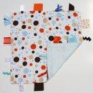 Tiggle - Blue & Orange dots on white