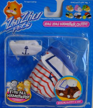 Zhu Zhu Hamster Sailor Outfit and Hat