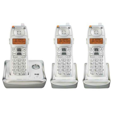 GE 25922GE3 5.8 GHz Analog 3X Handsets Cordless Phone