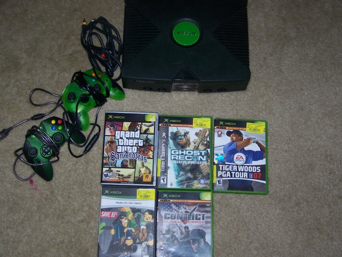 Microsoft XBOX Five 5 Games