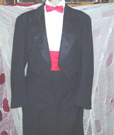Vintage Tuxedo  Black Jacket w/Tails & Pants 1930's Halloween