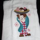 Embroidered Retro Big Boy Banana Split Dish Kitchen Towel