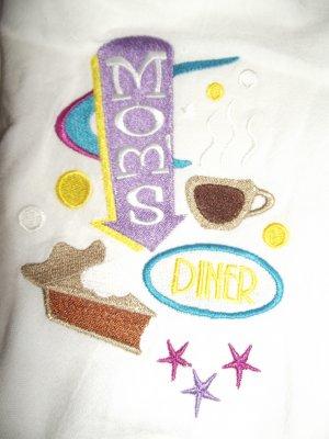 Embroidered Retro Moms Diner Dish Kitchen Towel