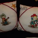 Embroidered Decorative Retro Cowboy & Cowgirl Pillows