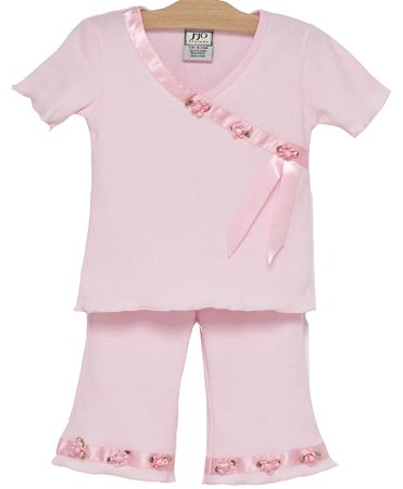 Pink Satin Ribbon Outfit 3-6 months