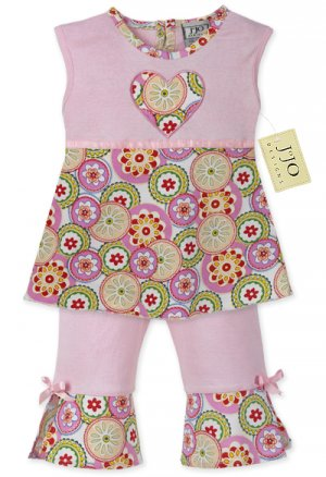 Pink Mod Dot Outfit 3-6 months