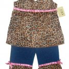 Leopard Print Jeans Outfit 3-6 months