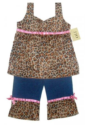 Leopard Print Jeans Outfit 3-6 months